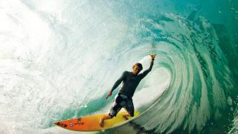 Waves surfers Wallpaper