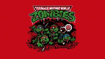 Zombies mutant teenage ninja turtles wallpaper