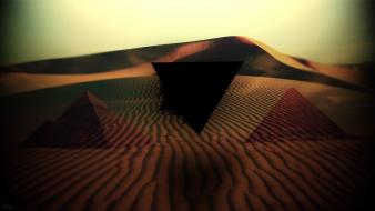 Abstract desert macro pyramids triangles wallpaper