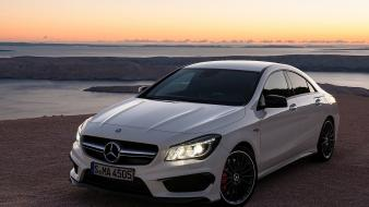 Amg cla mercedes benz sun cars wallpaper