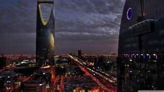 Arabia burj al mamlaka city night cityscapes wallpaper