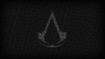 Assassins creed logos typography video games wallpaper