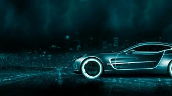 Aston martin tron widescreen wallpaper