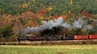 Autumn trains pennsylvania locomotives colors wallpaper