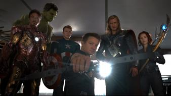 Avengers (movie) bow (weapon) movie stills sceptres wallpaper