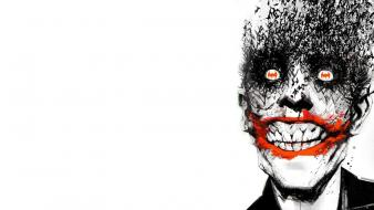 Batman the joker widescreen comic books wallpaper