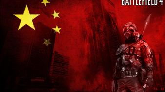 Battlefield 4 china gas masks red wallpaper