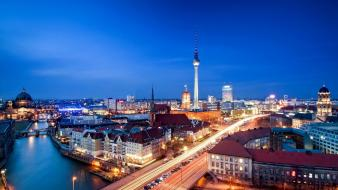 Berlin germany tv towers cities cityscapes Wallpaper