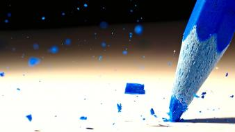Blue crayons particles crushed wallpaper