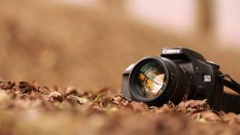Canon eos bokeh cameras close-up digital art wallpaper