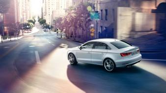 Cars audi roads vehicles german a3 cities saloon wallpaper