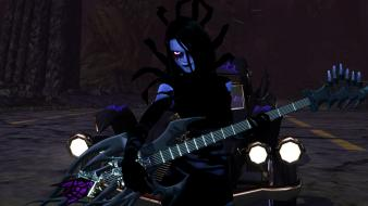 Cars guitars brutal legend black clothes street wallpaper