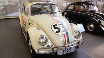 Cars numbers 1969 vehicles volkswagen old beetle vintage Wallpaper