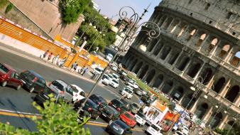Cars rome italy colosseum Wallpaper