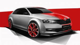 Cars tuning skoda rapid wallpaper