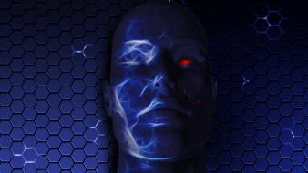 Cgi red eyes 3d faces humanoid wallpaper
