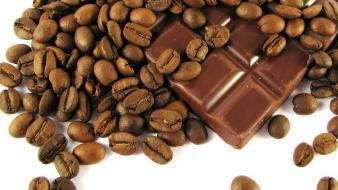 Chocolate coffee beans food wallpaper