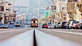 Cityscapes cars tram san francisco wallpaper