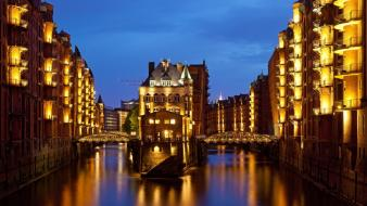 Cityscapes germany hamburg speicherstadt wallpaper