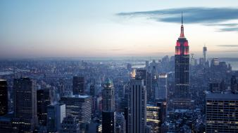 Cityscapes new york city empire state building cities Wallpaper