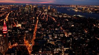 Cityscapes night metropolis wallpaper