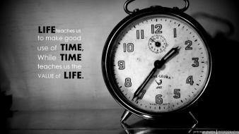 Clocks grayscale quotes time Wallpaper