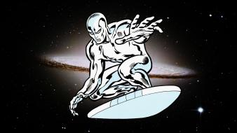 Comics silver surfer collage sombrero galaxy Wallpaper