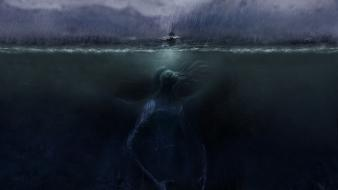 Cthulhu mythology mythical widescreen cultus sea monster wallpaper