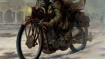 Dark artwork dieselpunk Wallpaper