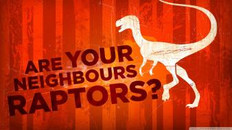 Dinosaurs funny raptors red background text wallpaper