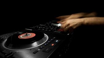 Dj black background hands mixboard move wallpaper