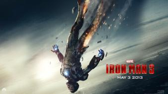 Downey jr hollywood iron man 3 skies wallpaper