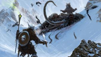 Elder scrolls the v: skyrim concept art wallpaper