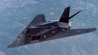 F-117 nighthawk aircraft flight height impact wallpaper