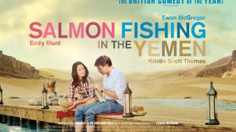 Fishing emily blunt ewan mcgregor salmon yemen wallpaper