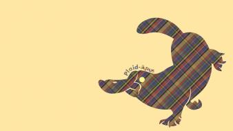 Funny plaid pun platapus wallpaper
