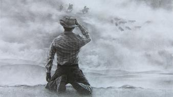 Ghost rider western the sky cowboy chase wallpaper