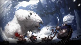 Giant fantasy art polar Wallpaper