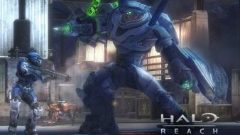 Guns robots futuristic fight halo reach game wallpaper