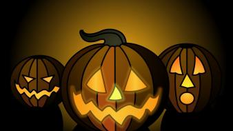 Halloween artwork pumpkins wallpaper