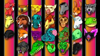 Hotline miami animals masks video games wallpaper
