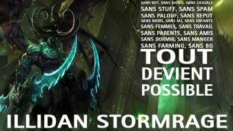 Illidan stormrage president tuvok world of warcraft wallpaper