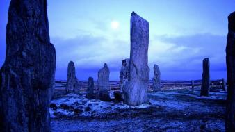 Isle of lewis scotland nature standing stones Wallpaper
