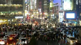 Japan shibuya cities cityscapes crossing wallpaper