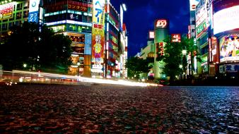 Japan shibuya cities cityscapes streetscape wallpaper