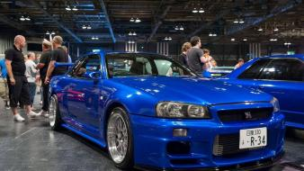 Japanese cars jdm r34 tuned car wallpaper