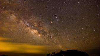 Milky way night sky wallpaper