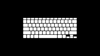 Minimalistic apple inc. keyboards wallpaper