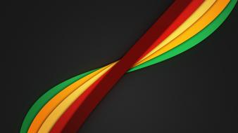 Minimalistic rainbows dark background color spectrum twisted clean wallpaper
