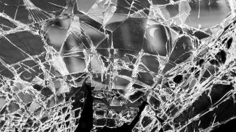 Monochrome broken glass wallpaper